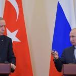 أردوغان لبوتين: يجب بحث إمكانية إرسال قوات دولية لحماية الفلسطينيين وتلقين إسرائيل درسا