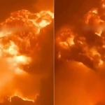 فيديو يوثق حريقا ودمارا كبيرا في مدينة إسدود نتيجة صواريخ غزة