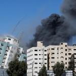 إسرائيل تدمر برج الجلاء مقر وسائل إعلام دولية كبيرة في غزة